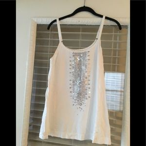 Eileen Fisher 💯% Organic Cotton Cami White/Silver
